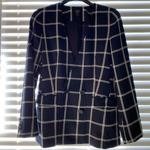 J. Crew French Girl Blazer in Windowpane